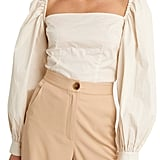 NA-KD Balloon Sleeve Crop Blouse
