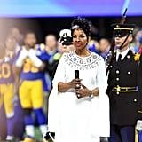 National anthem performer, Gladys Knight.