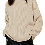 Topshop Mock Neck Sweater