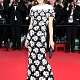 Milla Jovovich in Chanel Haute Couture at the Cannes premiere of Blood Ties.