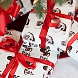 Wrapping Paper With Black Santa