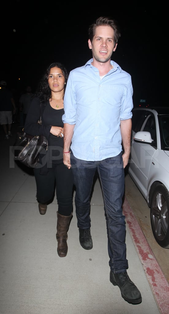 America Ferrera and Ryan Piers Williams at Adele's LA show.