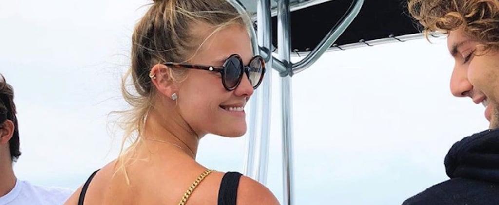 Nina Agdal Black Aerie Swimsuit