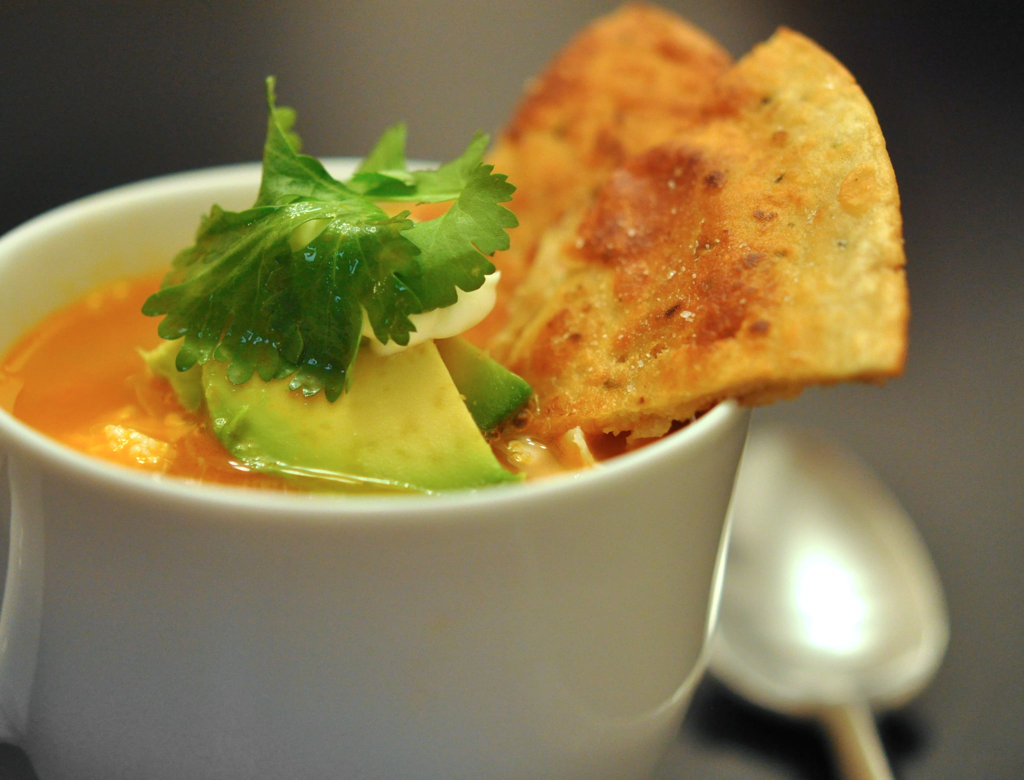 Tyler Florence Recipes tyler florence's spicy chicken tortilla soup recipe | popsugar food