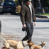Kellan Hangs With His Boys While Robert and Kristen Head North