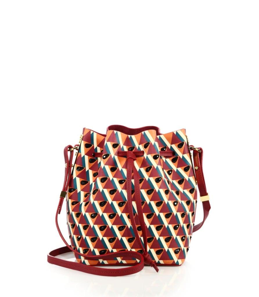 29fe6106f3c6c Sophie Hulme Nelson Small Embellished Geometric-Print Leather Bucket Bag  ($1,495)