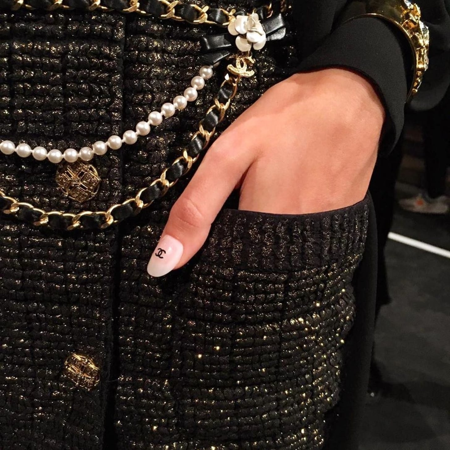 Chanel Double C Nail Stickers at the Metiers D'Art Show | POPSUGAR Beauty Australia
