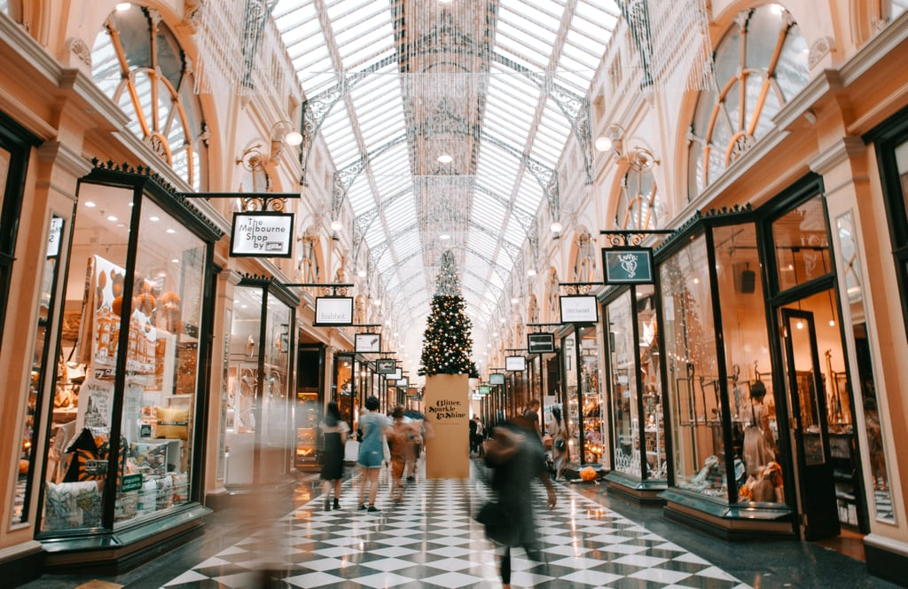 Admire the Holiday Window Displays at the Mall Together
