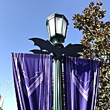 Bats take over every lamp post in California Adventure.