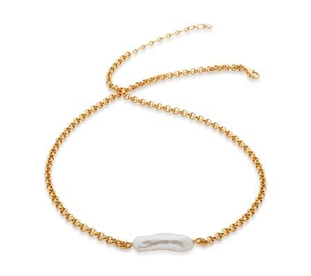Monica Vinader Nura Biwa Pearl Necklace