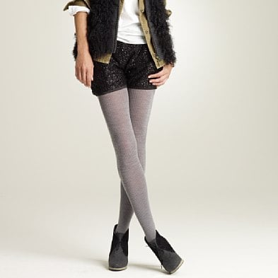 I love nothing more than a pair of cozy tights, like these J.Crew Wool-Blend Ribbed Tights ($27). Throw them on with just about anything, especially denim shorts.
