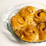 Cinnamon Rolls With Pumpkin Icing