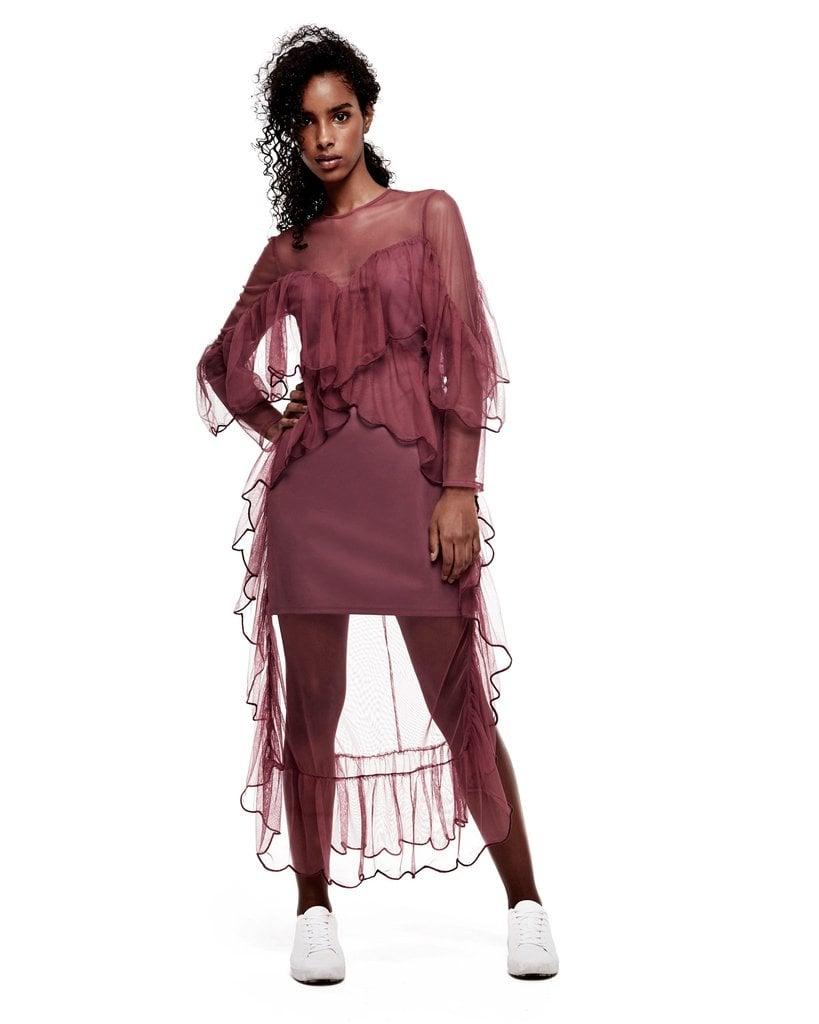 d0279dd1783b Mesh Ruffle Dress ($158) | Daya By Zendaya Fashion Line | POPSUGAR ...