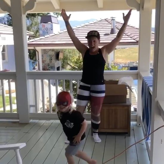 Pink Made an Awesome Home Obstacle Course For Son Jameson