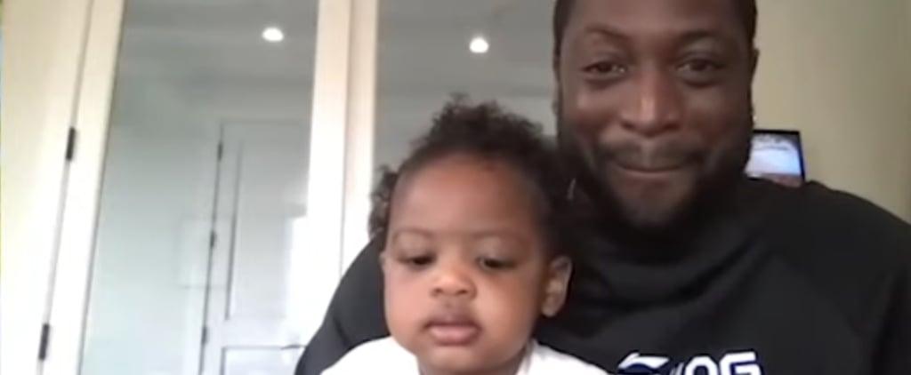 Watch Shaq Try to Entertain Dwyane Wade's Daughter, Kaavia