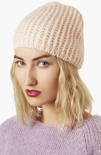 We adore the subtle hue of this Topshop cobweb knit beanie ($24).