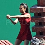 Zoe Saldana returns to her role in Star Trek 2 as Lt. Uhura.