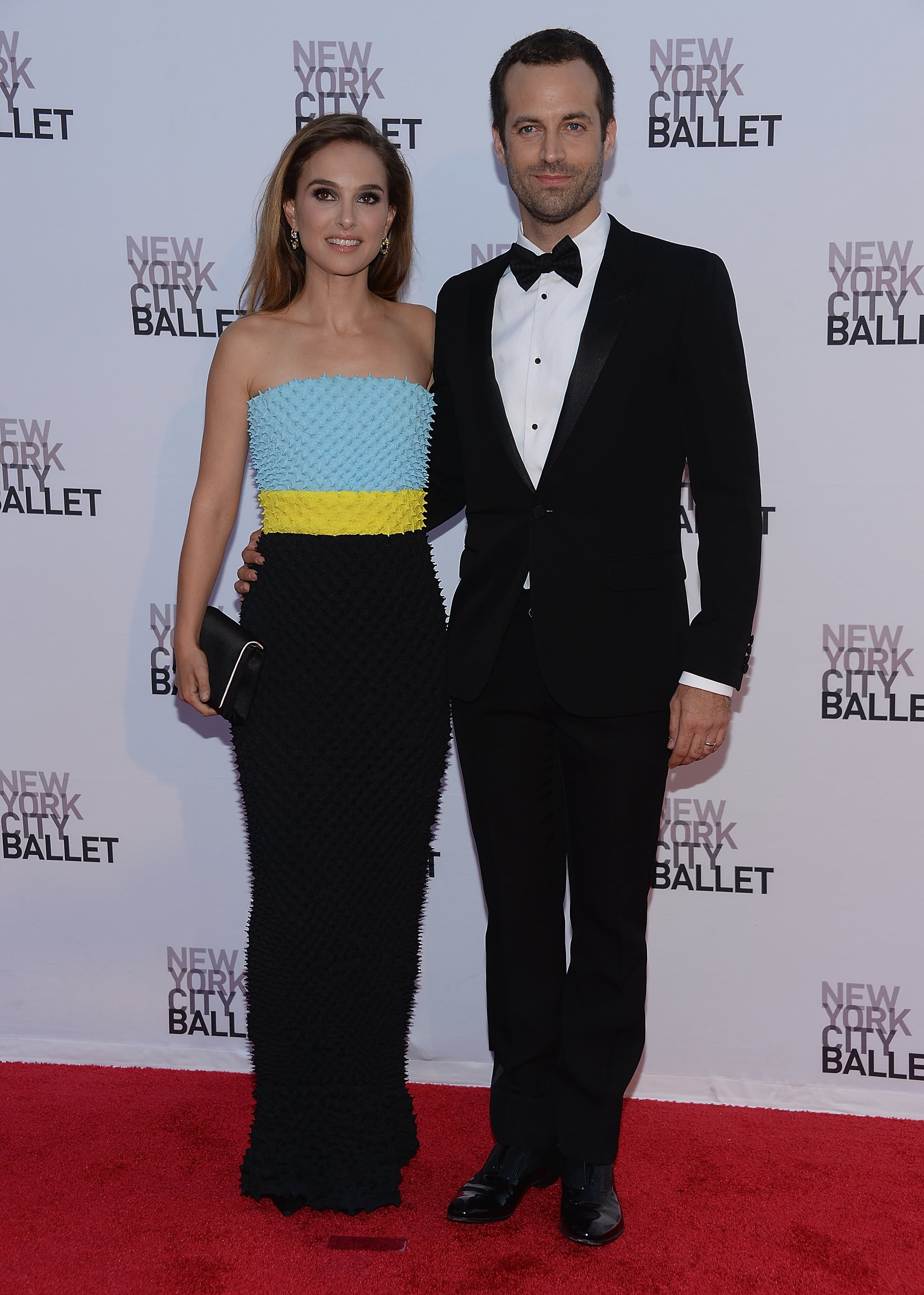 Posed for photos with her ballet dancing husband benjamin millepied