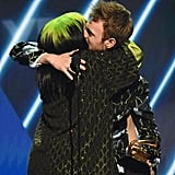 Billie Eilish and Finneas O'Connell at the 2020 Grammys