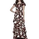 Alice + Olivia Jenny Flutter-Sleeve Maxi Dress
