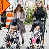 Tabitha Broderick and Loretta Broderick joined Sarah Jessica Parker and their nanny for a walk.