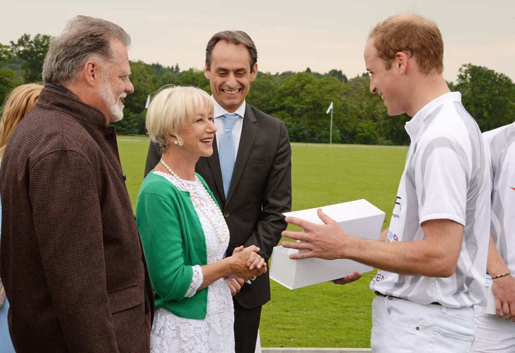 Princes William and Harry With Helen Mirren and Clive Owen