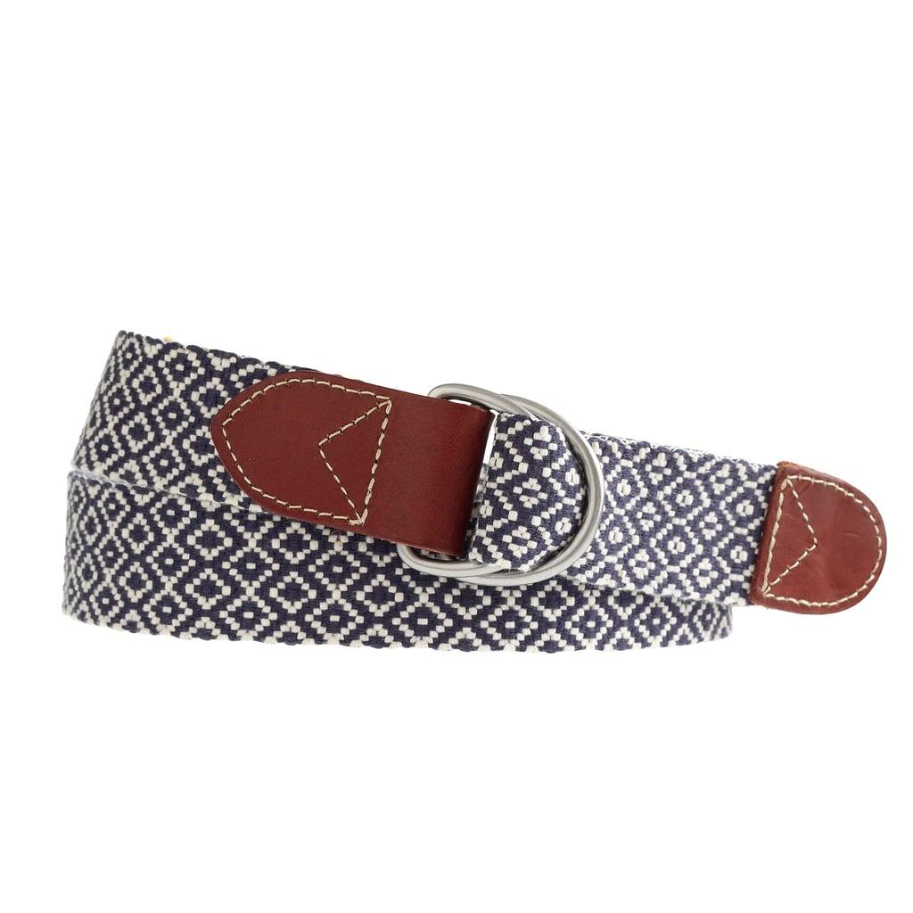 J. Crew Woven Diamond D-Ring Belt ($40)