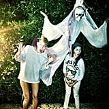 Miley Cyrus got in the Halloween spirit with her sister Noah. Source: Miley Cyrus on Pheed