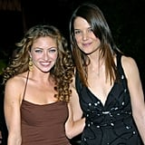 Katie Holmes and Rebecca Gayheart attended a Globes after-party in 2004.