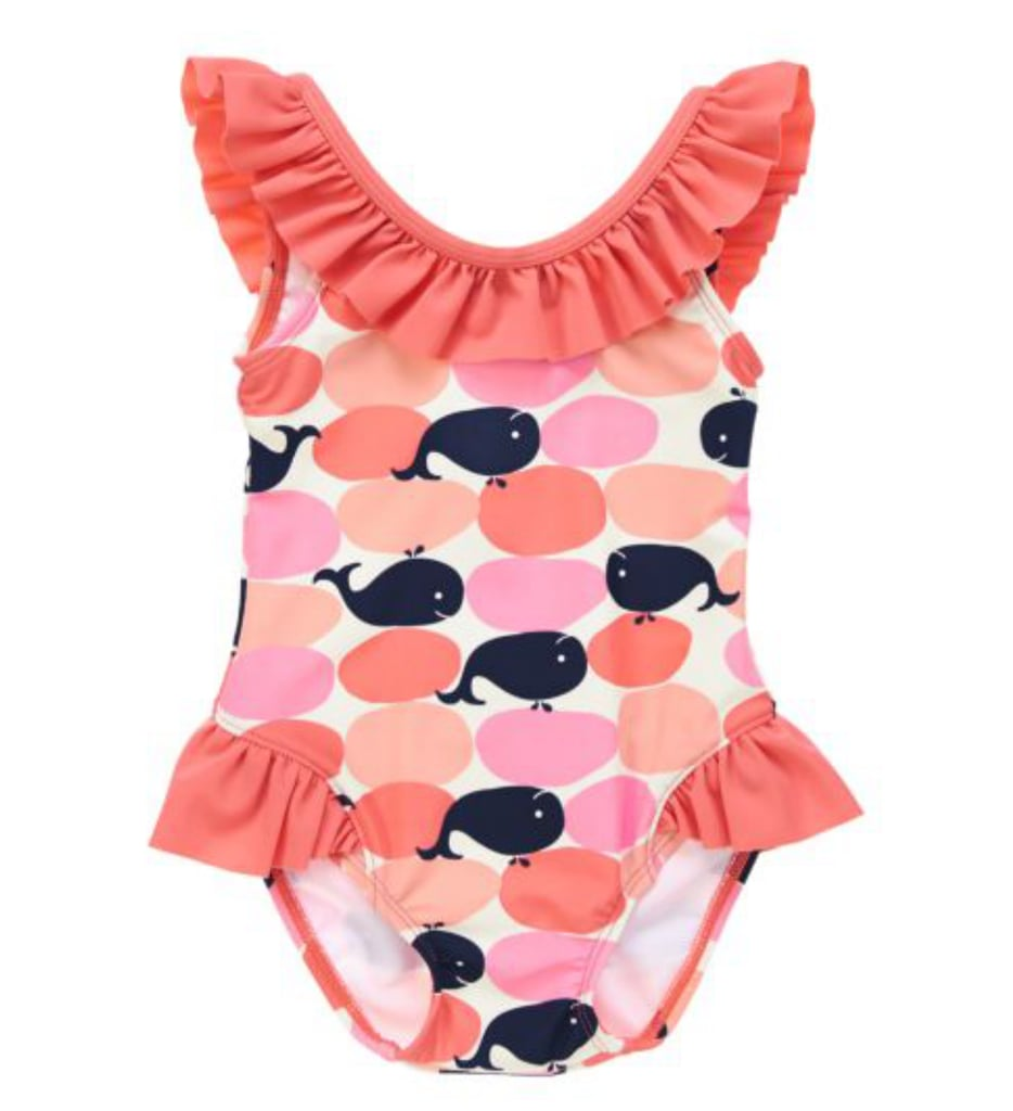 4cf56af5b2c04 Ruffle Whale Print by Crazy 8 | Geometric One-Piece Bathing Suits ...