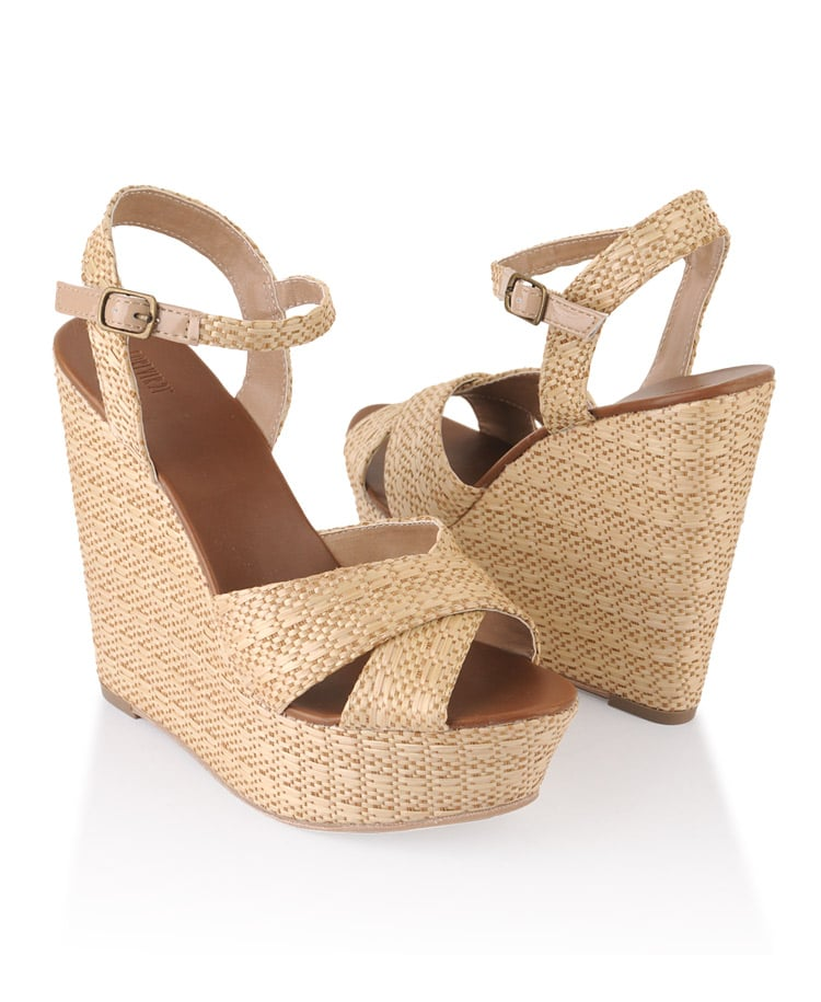We could easily see these straw wedges being worn to a picnic in the park. Forever 21 Woven Wedge Sandals ($33)