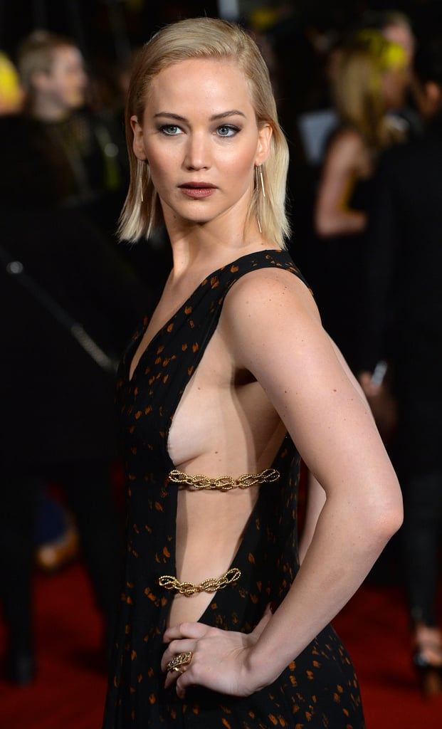 Jennifer Lawrence With a Light-Blond Blunt Bob