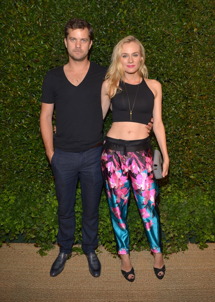 Diane Kruger bared her toned tummy at a US Vogue and Mac Cosmetics party for Prabal Gurung at the Chateau Marmont in May 2013.