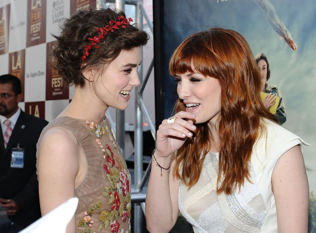 Keira Knightley had a laugh with Lorene Scafaria at the LA premiere of Seeking a Friend For the End of the World.