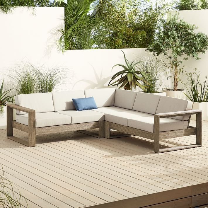 West Elm Portside Outdoor 3-Piece L-Shaped Sectional