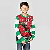 Well Worn Boys' Dino Days Santa Ugly Christmas Sweater