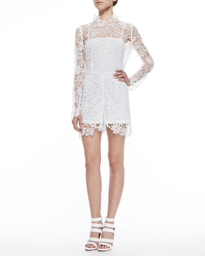 Charlie Jade Long-Sleeve Lace Jumpsuit