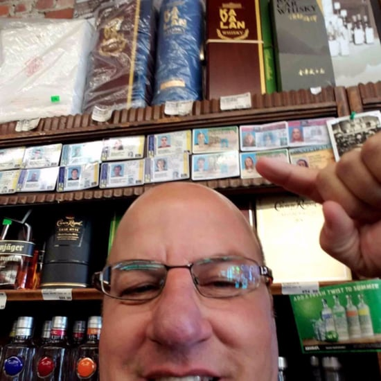 Dad Fake ID Selfie at Liquor Store