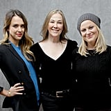 A.C.O.D ladies Jessica Alba, Catherine O'Hara, and Amy Poehler looked sleek in black at the Utah film festival.