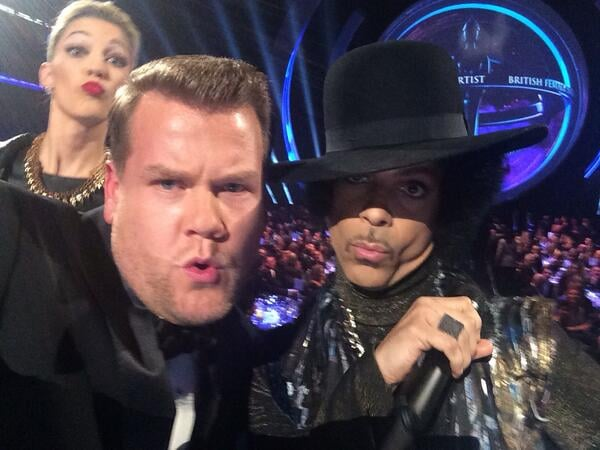 Host James Corden Took a Selfie With Prince
