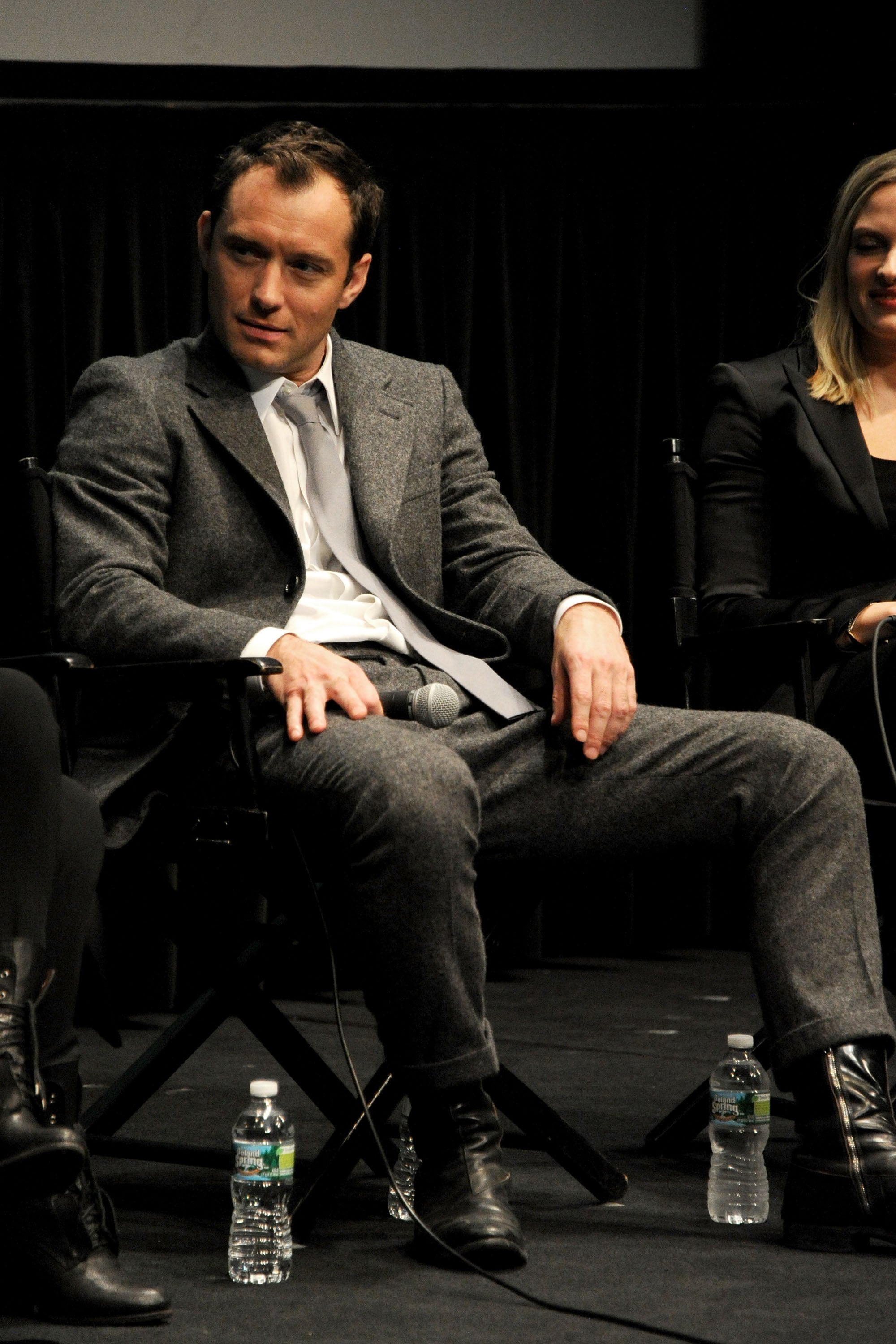 Jude Law wore a suit for the New York screening.