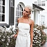 Sabo Skirt Belted Tweed Dress ($178)