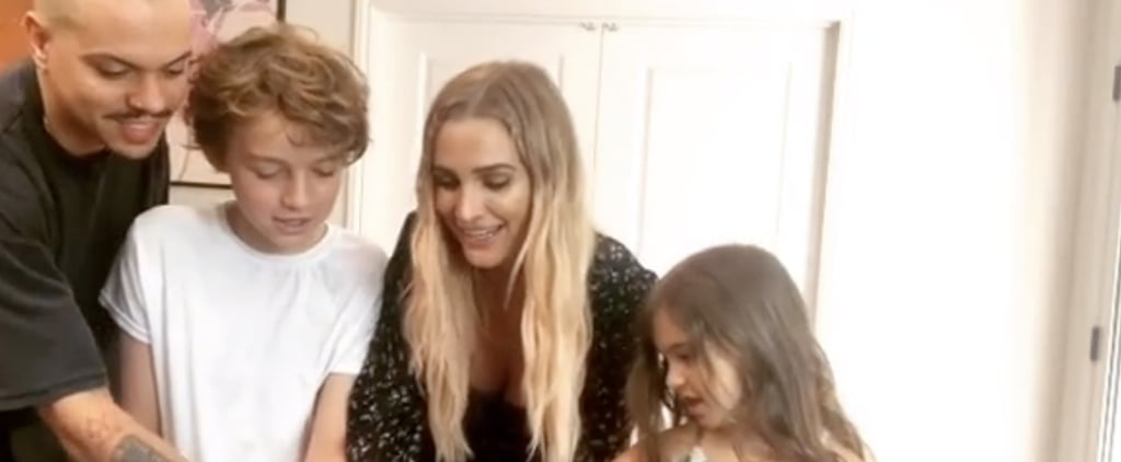 Watch Ashlee Simpson's Kids React to Her Gender Reveal