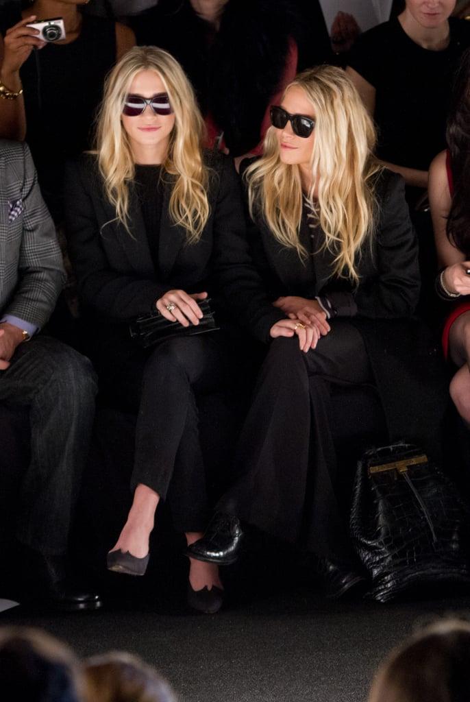 Mary-Kate Olsen and Ashley Olsen both wore sunglasses in February for J. Mendel's show.
