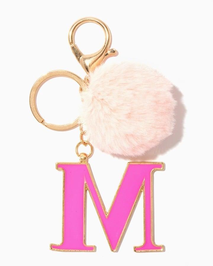 Furry Initial Keychain