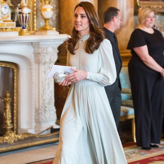 Kate Middleton Blue Midi Dress March 2019
