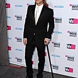 Brad Pitt brought his cane to the Critics' Choice Movie Awards.