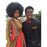 Kyemah's date even wore a matching bow tie and pocket square. How cute!