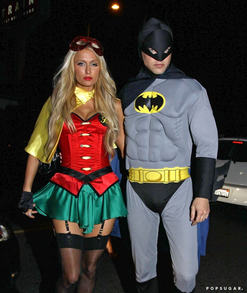 paris hilton and then-boyfriend river viiperi donned batman and