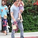 Freddie Prinze Jr. held on tight to little Charlotte.